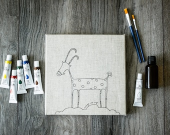 Canvas for painting BILLY-GOAT