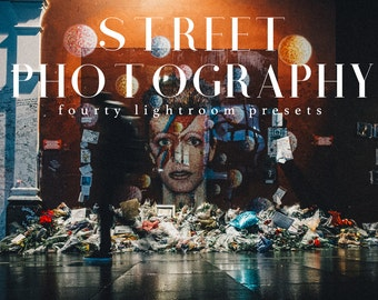 40 Street Photography Lightroom Presets with with modern and moody tones for Modern Photographers