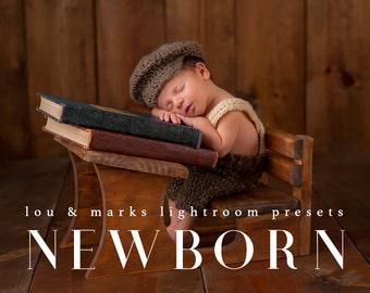 50 Professional Newborn Lightroom Presets Professional Photo Editing for Portraits, Newborns, Weddings By LouMarksPhoto