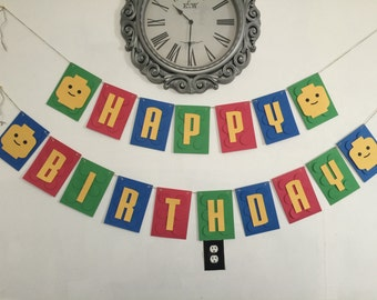 LEGO 3D Birthday Large Banner