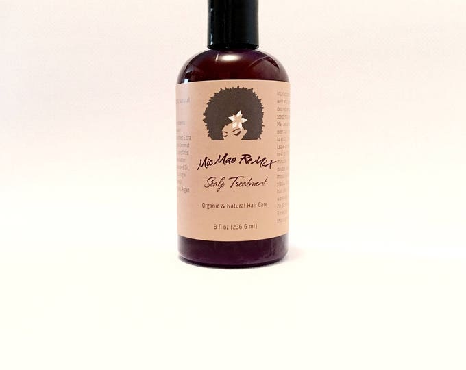 SCALP TREATMENT Oil/Butter mix with protein encourages hair growth by helping to achieve a healthy scalp, relieve dandruff and nourish hair.