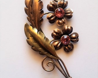 Vintage Van Dell Gold on Sterling Brooch