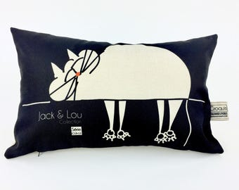 Decorative cushion / pillow/black cat and natural / animal pillow / high quality fabric / drawing hand/c13-11