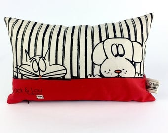 Decorative cushion / pillow pet cat and dog/pillow / cushion quality large red/fabric / drawing hand/c13-18
