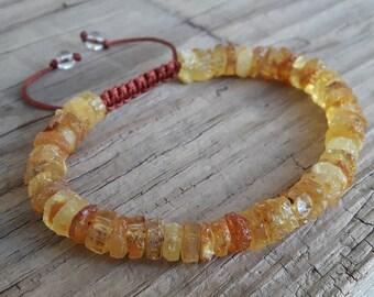 Amber bracelet raw baltic amber bracelet amber gemstone bracelet healing bracelet lemon cognac amber bracelet adults yoga mala bracelet gift