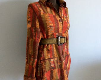 SOLD! Gorgeous cool MISSONI coat cardigan blazer double-face wool midseason street style fashion casual chic