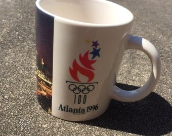 Vintage Atlanta 1996 Olympics 12 Ounce Mug