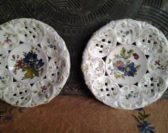 Bassano Italian plates, hand painted