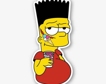 Gucci Bart - Die Cut Sticker