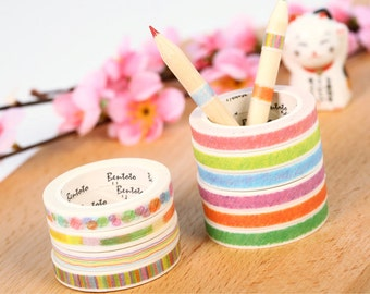 Slim Pastel Set Washi Tape