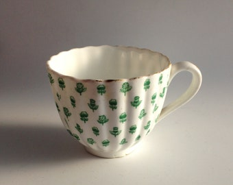 Victorian Cup - Antique Teacup - Antique Gilt Decorated Cup - Bone China Collectible - Porcelain Cup - Orphan Cup - Thistle and Rose Cup