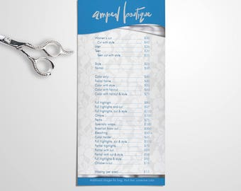 Salon Professional Price List Lace