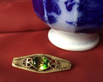 Victorian Crystal Bar Pin, Vintage Bar Pin, Vintage Brooch, Victorian Brooch