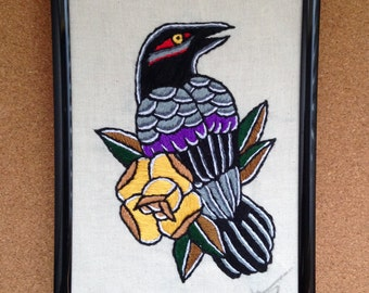Traditional Crow Embroidery