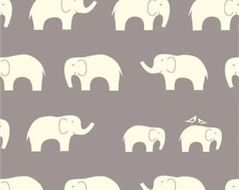 Gray Elephant Organic Cotton Knit Fabric - Birch Fabrics - Gray Elephant Organic Cotton Knit Fabric