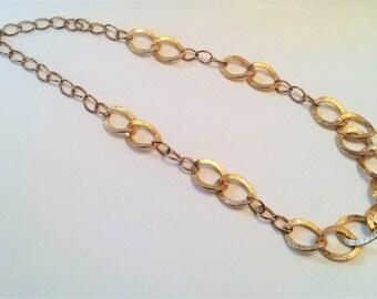 Long Vintage Necklace, Vintage Gold Tone Necklace, Necklace, Statement Jewelry, Vintage Jewelry, Gifts for Her, Long Necklaces