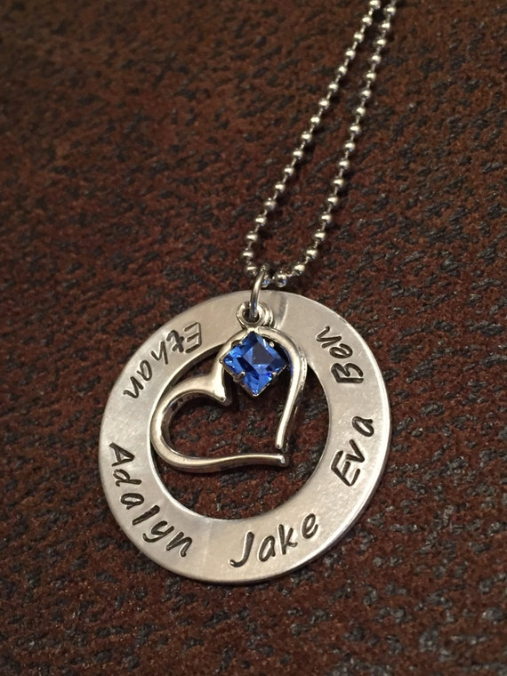 mom necklace personalized mom birthstone by
