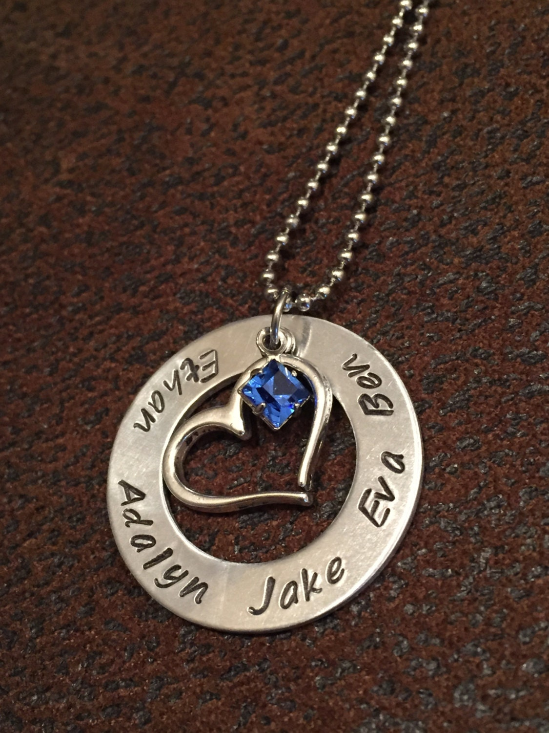 mom necklace personalized mom birthstone by. Black Bedroom Furniture Sets. Home Design Ideas