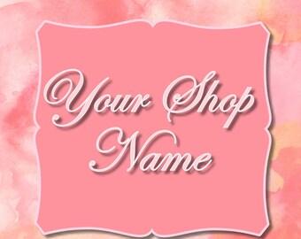 Pink Marble Banner, Banner Design, Shop Banner Set, Custom Banner, Graphic Design, Shop Banner, Cover Photo, Premade Banner