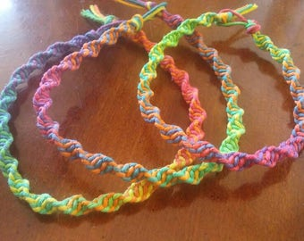 Rainbow Spiral Anklets