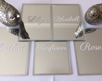 Acrylic Mirror Table Numbers