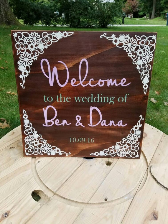 Welcome guests with this warm and inviting Welcome to Our Wedding sign. First impressions are everything. Customize with your colors!