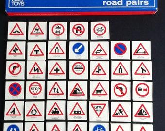 GALT Toys Snap, Road Pairs, Vintage games, Rare, British Road signs Snap.