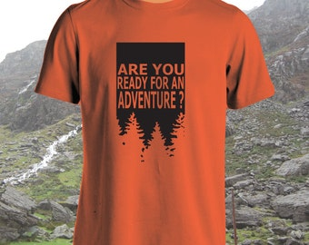 Are You Ready For An Adventure? - Adult, Mens, Womens, t-shirt, Forest design