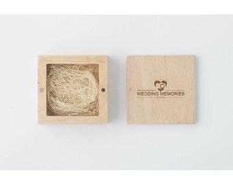 Customized, Wedding USB case, wedding case, wooden Wedding USB case, wedding case, wooden box, keepsake box, natural wood, lacquer.