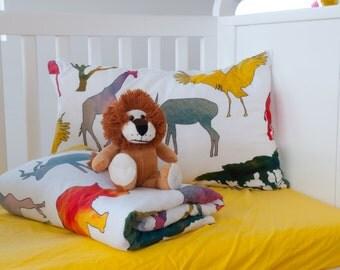 Animal Print Comforter - Boy Comforter - Boy Gift - Boy Bedding - Crib Bedding - Toddler Comforter - Twin Comforter - Animal Bedding