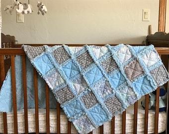 Baby Quilt, Rag style