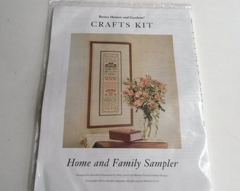 Home and Family Sampler Cross Stitch Kit, Better Homes And Gardens Cross stitch Kit