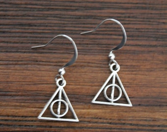 Harry Potter tiny Deathly Hallows earrings