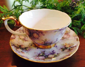"""Bradford Editions """"Treasured"""" in Lena Liu's Glorious Chintz Teacup and Saucer."""