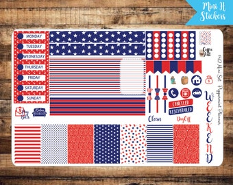 Mini H Fourth of July Weekly Planner Sticker {#42}