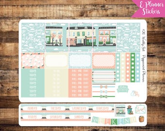 E Weekly Planner Blossom Around the Town Stickers {#26}