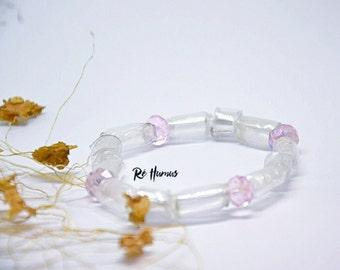 Elastic upcycle plastic bracelet