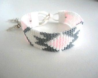 Hand-woven beaded Bracelet by Miyuki beads.