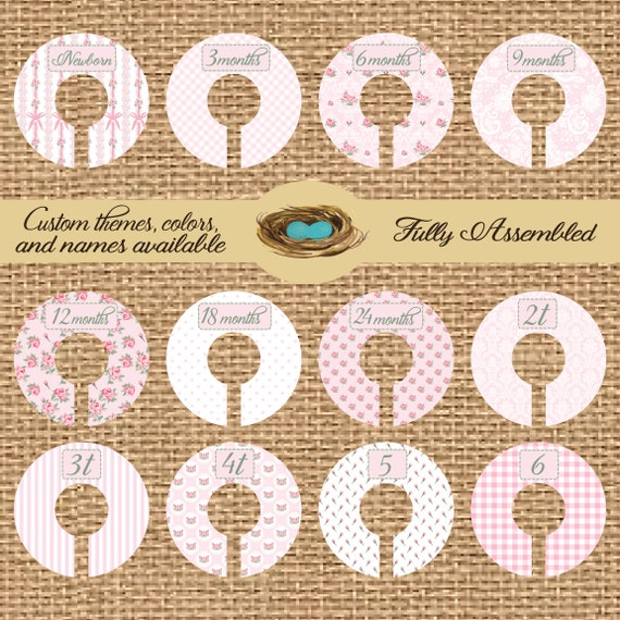 Closet Dividers, Baby Shower Gift, Newborn Baby Gift, Infant, Baby, Toddler, Child, size dividers the perfect gift for any baby girl.