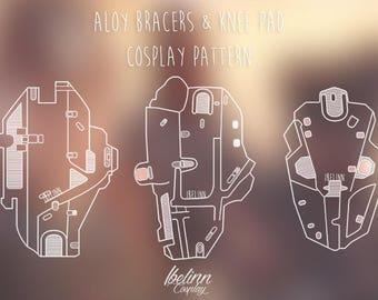 Horizon Zero Dawn inspired - Bracers & Knee pad - pattern 1:1