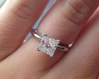 1ct. Princess Cut Solitaire in 14k white gold