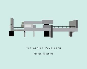 Apollo Pavillion - Minimalist Art Print