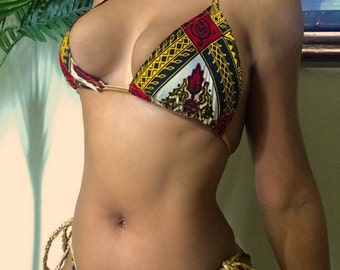 New braided kente ankara swimwear