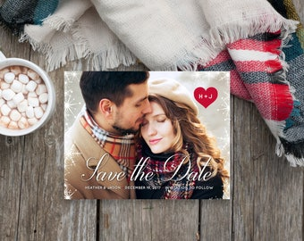 Winter Save the Date Magnet (Printed)