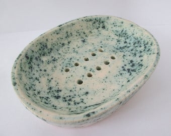 soap dish, ceramic soap dish, blue soap dish, soap dish handmade, handmade pottery, turquoise pottery, soap bowl, soap holder