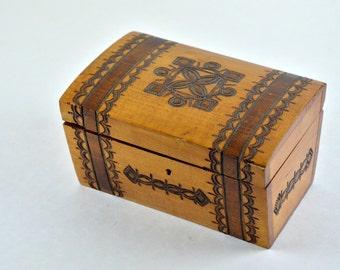 Vintage 1980's wooden box - Storage box - Decorative wood box