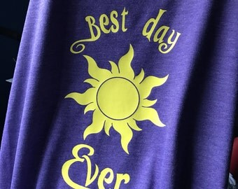 Tangled shirt // rapunzel shirt // best day ever shirt // disney shirt // disney tee // vacation shirt // disney princess // lost princess