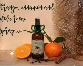 Christmas in a bottle room spray (orange, clove, pine and cinnamon)
