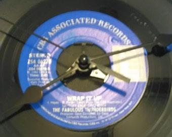 The Fabulous Thunderbirds 45 Record Clock - Wrap It Up