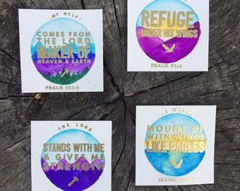Naturescape Bible verse cards - Set of 4